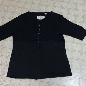 3/4 sleeve little black top